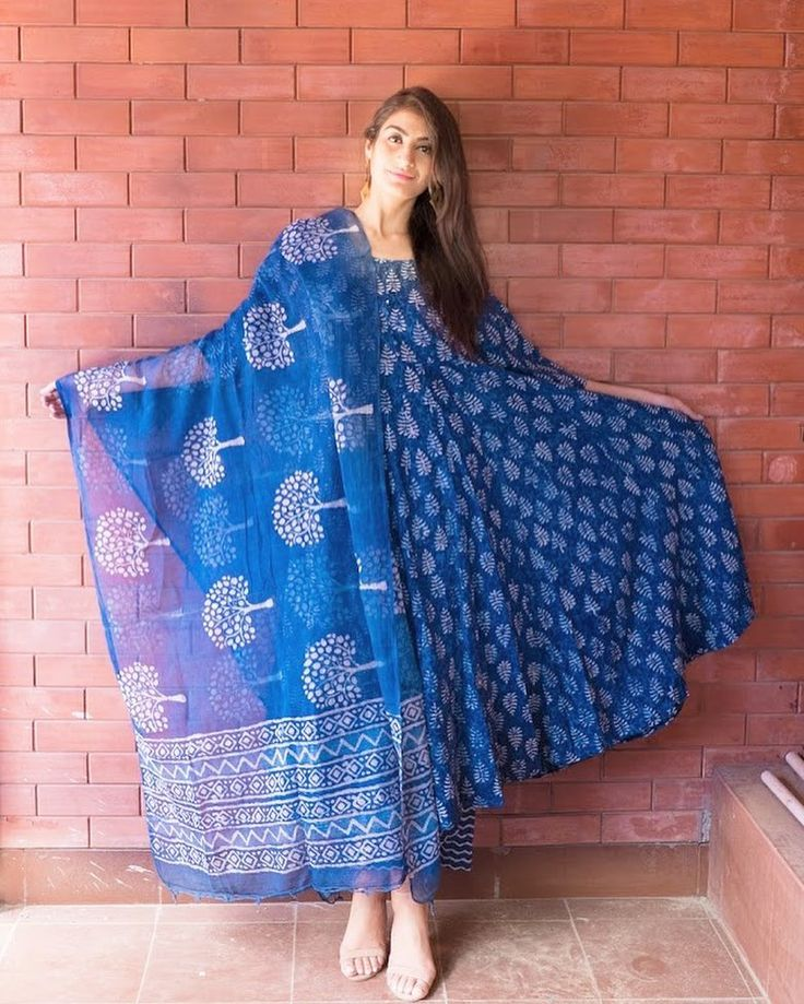 cotton box pleat Kurta + doriya dupatta + pajama