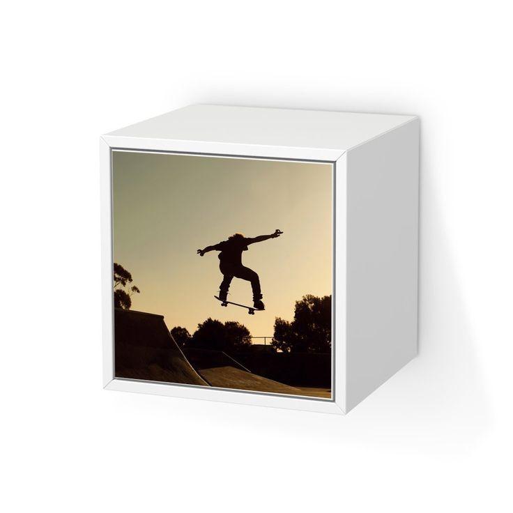 Aufkleber Möbel Für IKEA Valje Wandschrank 1 Tür (quadratisch) | Möbel Folie  Klebefolie