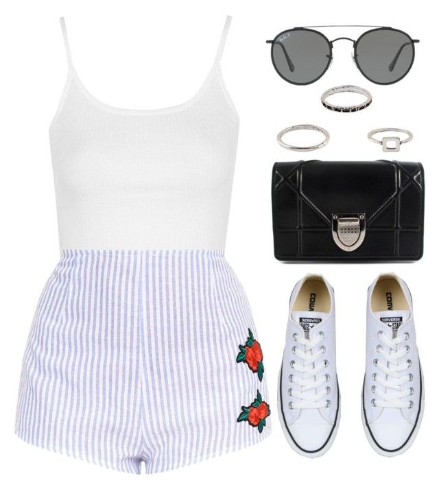 Sin título #12841 by vany-alvarado on Polyvore featuring polyvore, fashion, style, Topshop, Converse, Christian Dior, Ray-Ban and clothing