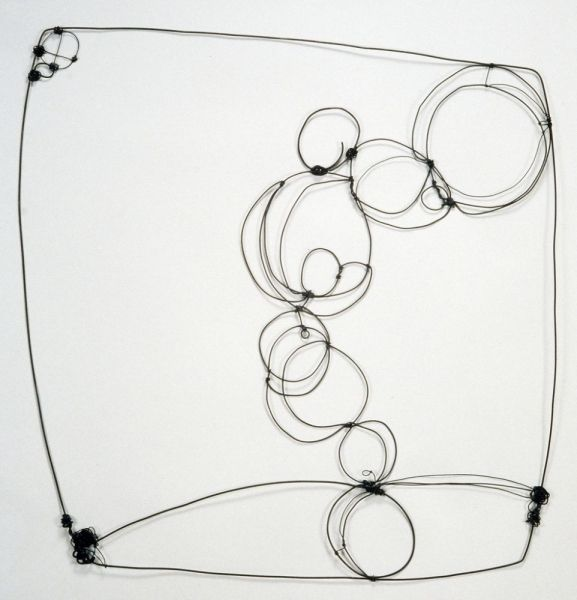 "Barbara Gilhooly - Wire Drawing 2  2006  Annealed steel wire  24"" x 24"""