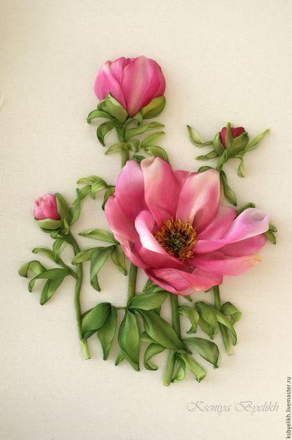 Картины цветов ручной работы. Ярмарка Мастеров - ручная работа. Купить Пионы (в резерве). Handmade. Комбинированный, пионы