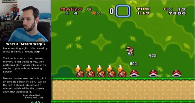 It's something that most players wouldn't even think is possible: playing a game in a certain way that jumps you completely to the end, without beating its final battle. But there it is, just executed in Super Mario World.
