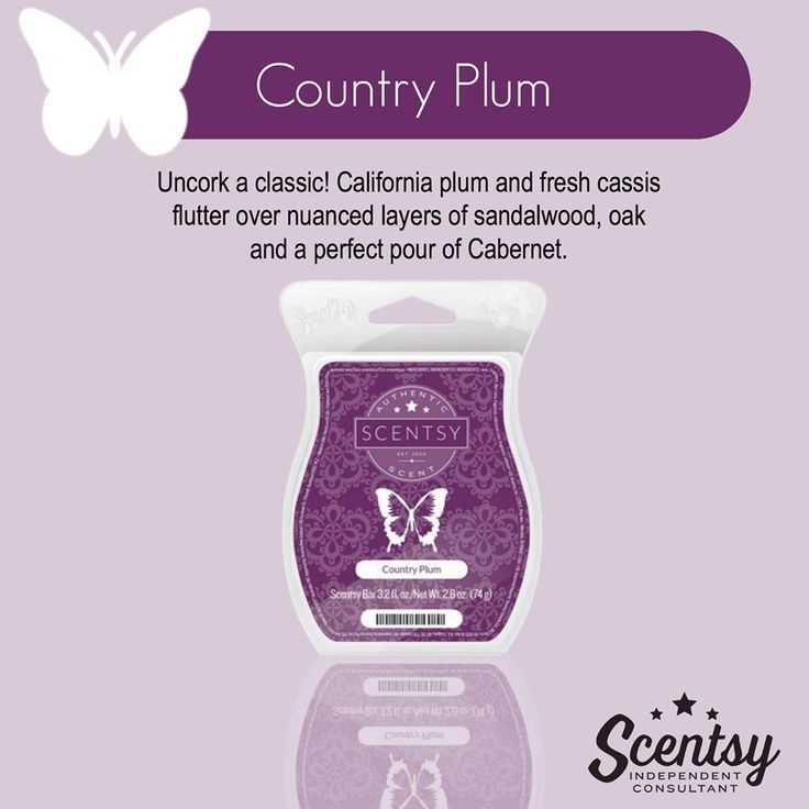 Scentsy's Country Plum available in a wax bar, room spray ...