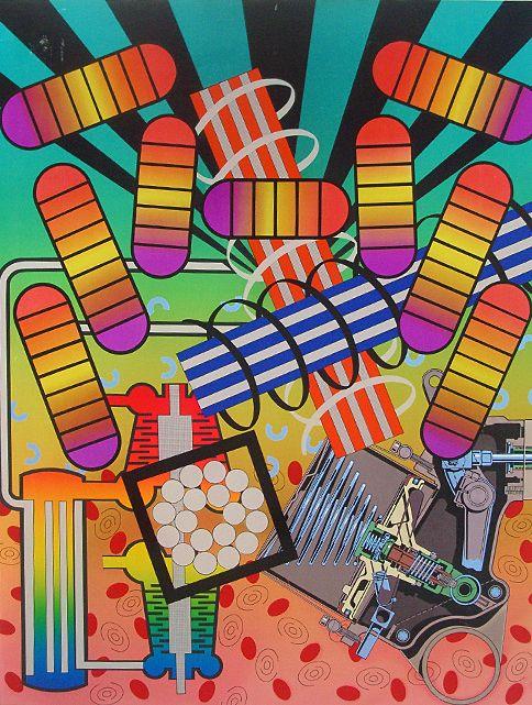 Peter Phillips pop art print: Spectrocoupling, 1972