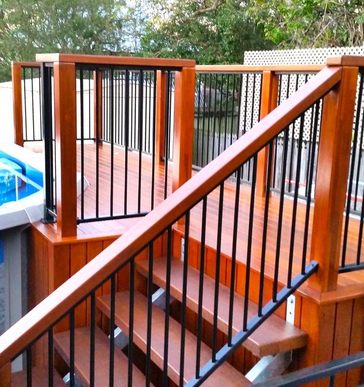 16 best patio roofing images on pinterest deck design for Above ground pool decks brisbane