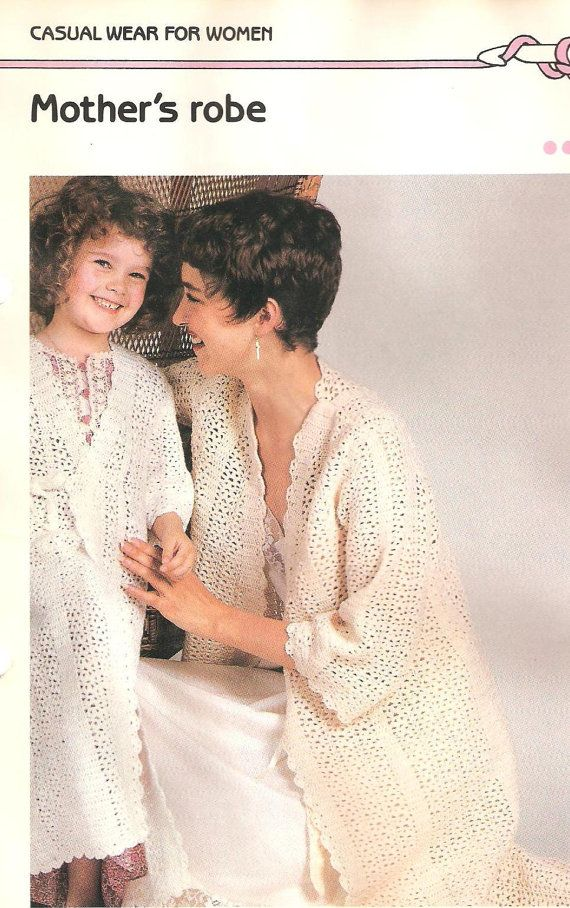 Mother and Daughter Matching Robes Lace Crochet by Newdaycrochet 7  Mother And Daughter Crochet