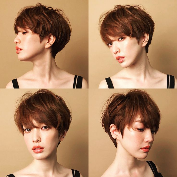 外国人シルエットのシンプルショートヘア☆