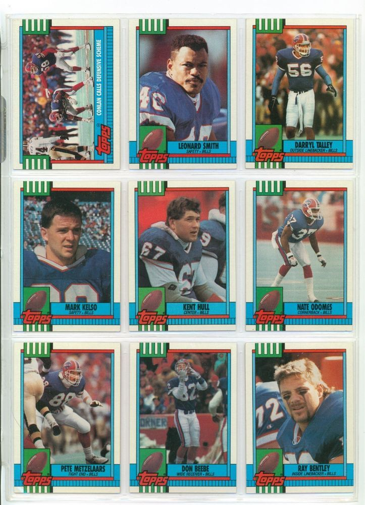 Buffalo Bills 1990 Topps & Topps Traded Team Football Card Set #BuffaloBills