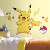 Found it at Wayfair - Pokemon Pikachu Wall Decal
