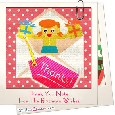 Thank You Note For The Birthday Wishes
