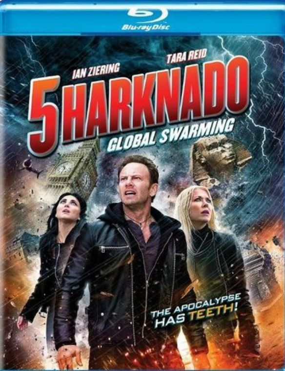 BLU-RAY: Snarknado 5: Global Swarming. STARRING: Ian Ziering, Tara Reid, Cassandra Scerbo, Billy Barratt, Masiela Lusha. DIRECTOR: Anthony C. Ferrante. WRITER(S): Thunder Levin, Scotty Mullen. PRODUCER(S): David Michael Latt. STUDIO: SyFy. GENRE: Horror, Sci Fi. RATING: PG-13. RUNTIME: 90 Min. FORMAT: Blu-Ray. RELEASE DATE: 10 / 3 / 2017.