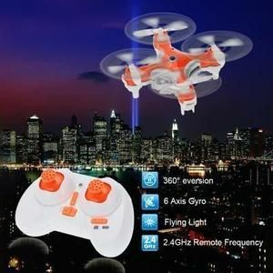 Gosear® Mini Drone Caméra 2.4G 4CH 6 Axe RTF et carte mémoire 2G Radiocommandé avec Hélicoptère Quadcopter