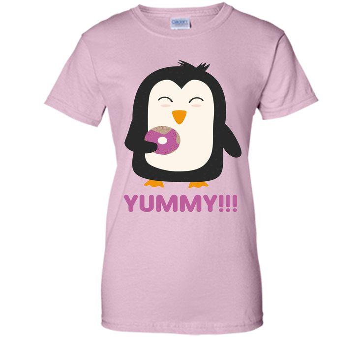 Penguin with a Doughnut T-Shirt