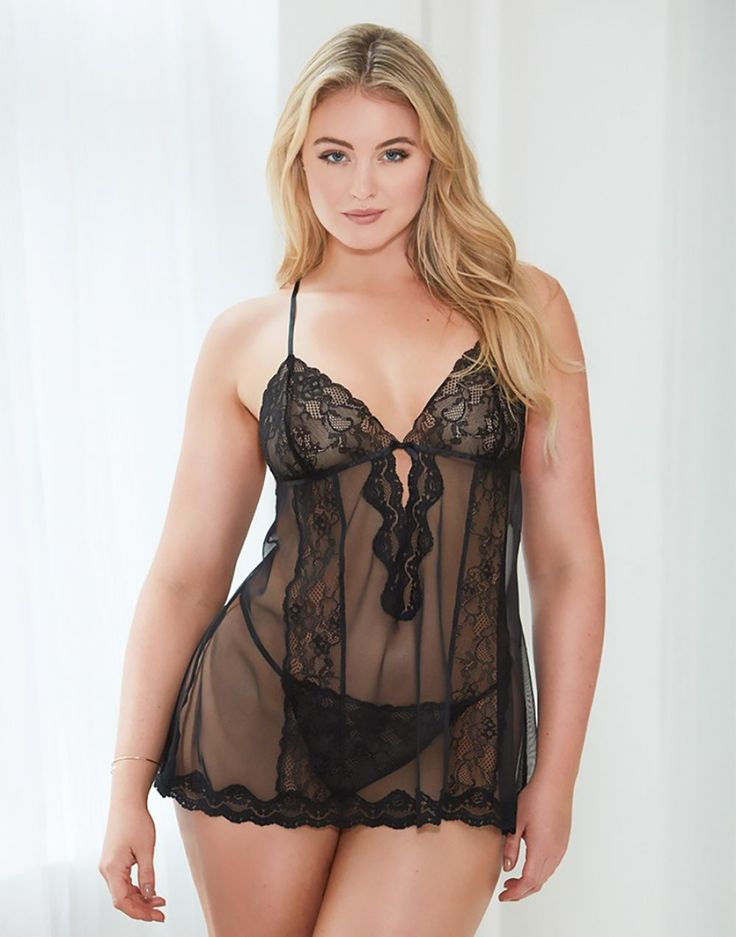 Plus size lingerie and shoes