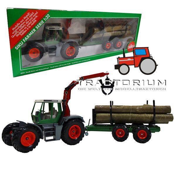 Siku 4054 Fendt Xylon mit Kran und Holztransportanhänger 1/32