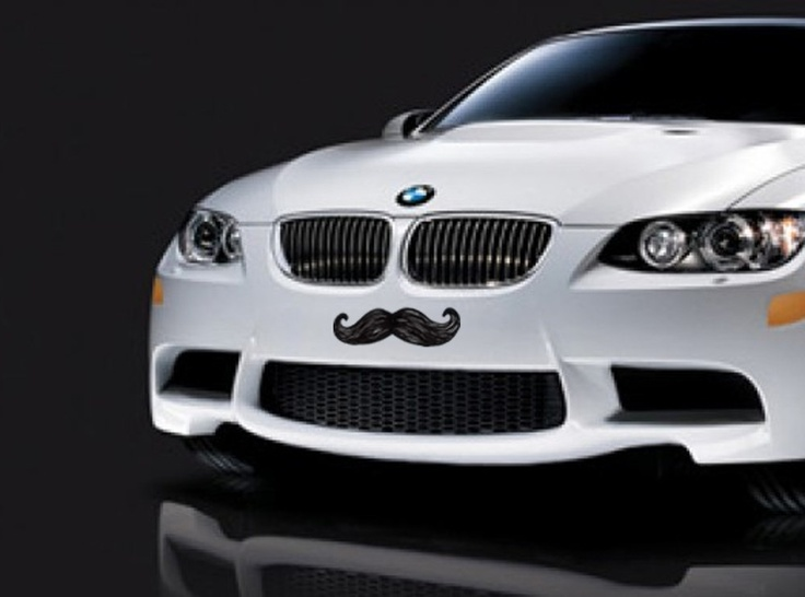 Mustache Car Sticker Vinyl Decal For Bumper Or Hood 6 00 Via