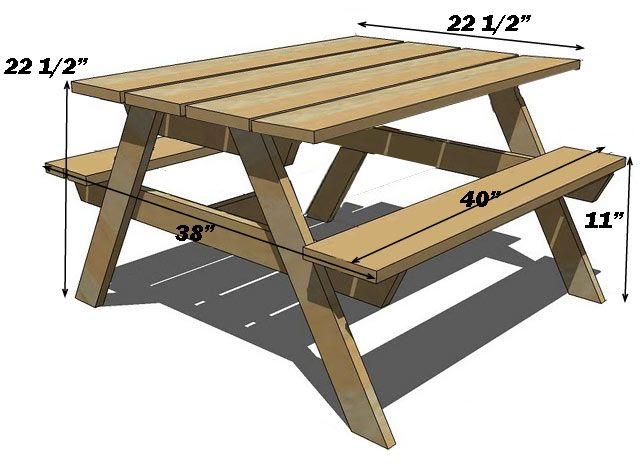 Picnic Table Plans Bq Family And Friends Gathering