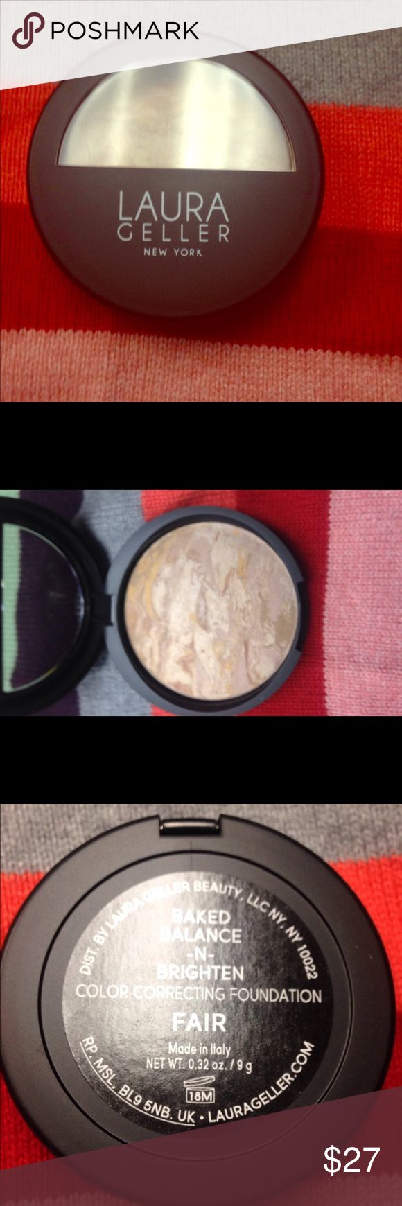 Laura Geller Foundation Laura Geller Baked Balance-N-Brighten Foundation in Fair. Full Size. Brand new, never used. Bundle and save!! Laura Geller Makeup Foundation