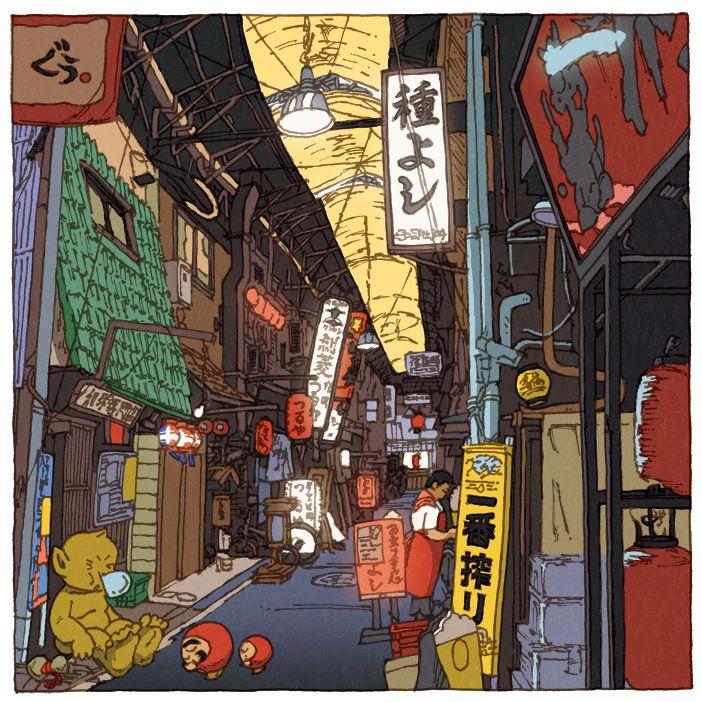 5 views of Osaka(1〜3) on Behance