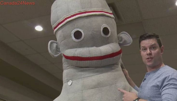 B.C. woman hopes to reclaim Guinness record for world's largest sock monkey