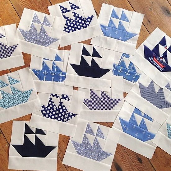 MessyJesse: The Making of the Nautical Quilt - includes the link for the pattern.
