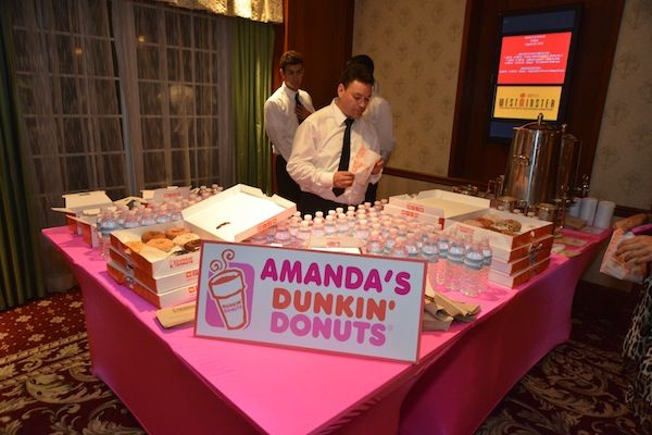 Dunkin Donuts Bar - Bat Mitzvah Party {Westminster Hotel, Brad Photographers} - mazelmoments.com