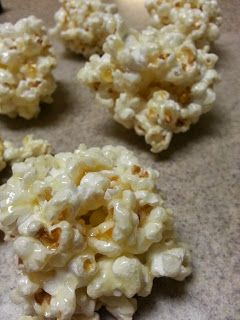 Old Fashioned Popcorn Balls- these were good. I had a giant bag of popcorn to use up and some leftover corn syrup. These don't have marshmellow, which is the way I like it.