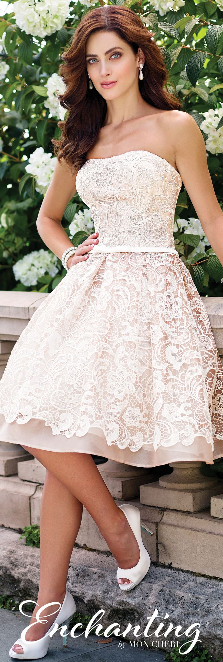 38 best knee length wedding dresses images on Pinterest | Short ...