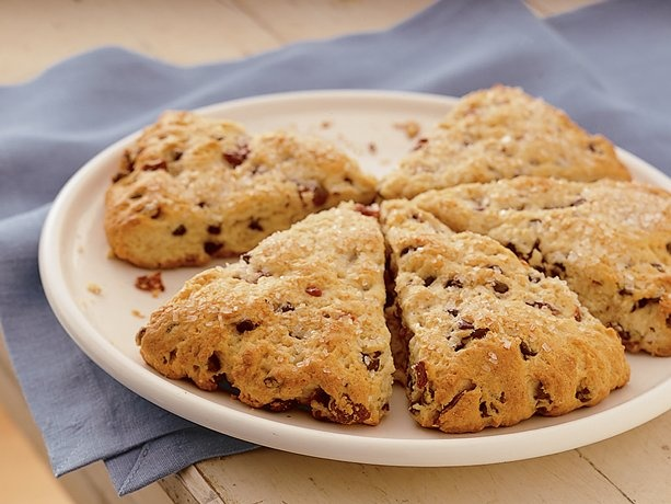 Delicious scone recipe. It is made with Bisquick- can't get much easier than that.