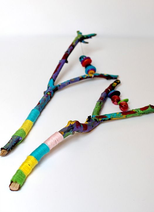 Painted Stick Instrument tutorial based on an Egyptian sistrum {from Twodaloo}
