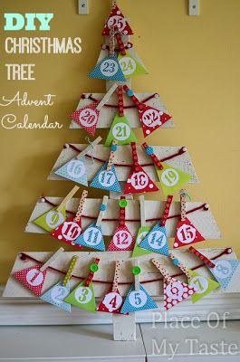 DIY CHRISTMAS TREE ADVENT CALENDAR { Tutorial } - PlaceOfMyTaste