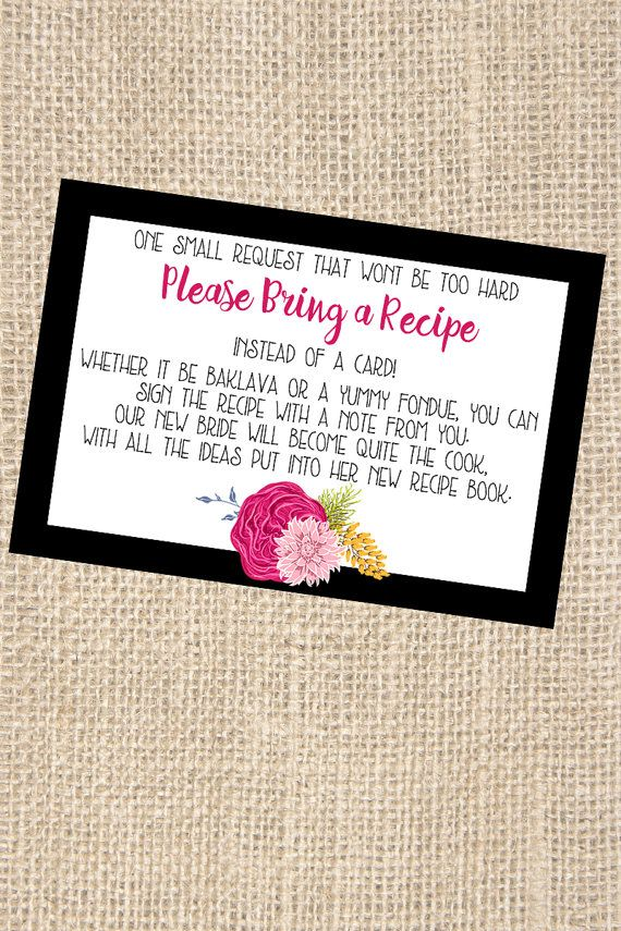 Kate Spade Themed Bridal Shower Recipe Request by Printaholics
