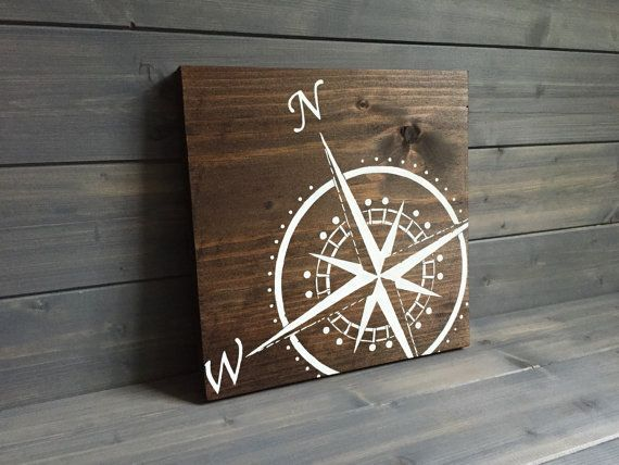 Pick Colors Compass Sign Hand Painted Adventure Sign Adventure Art Travel Decor Nautical Decor Beach Decor Lake Decor Compass Hand Painted And