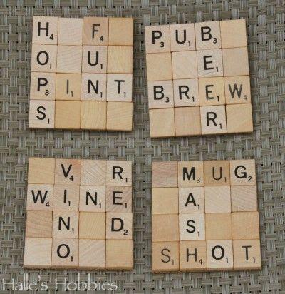 Scrabble Coasters | Halle's Hobbies
