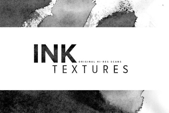 Ink Textures by thomas_ramey on Creative Market