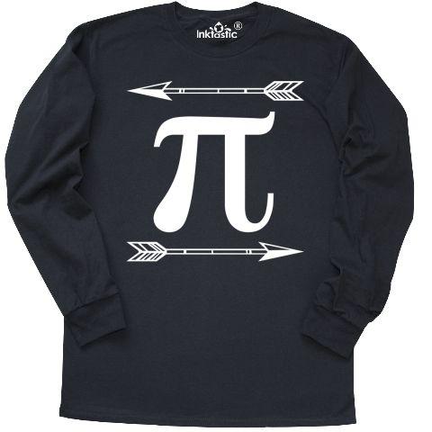Stylish Pi Day tribal arrow Long Sleeve T-Shirt math symbol school teacher  or student