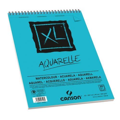 Bloc Xl Aquarelle A3 30 Feuilles Canson Papier Aquarelle Et