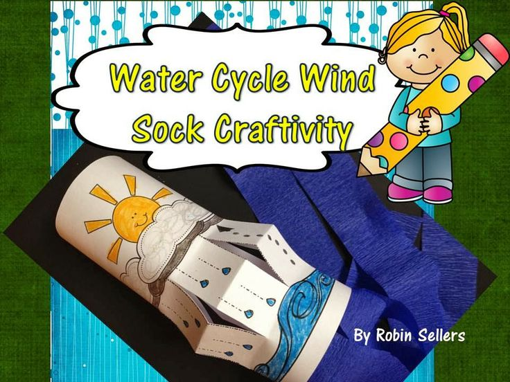 Water Cycle Wind Sock Craft for Weather Science Fun - Sweet Tea Classroom