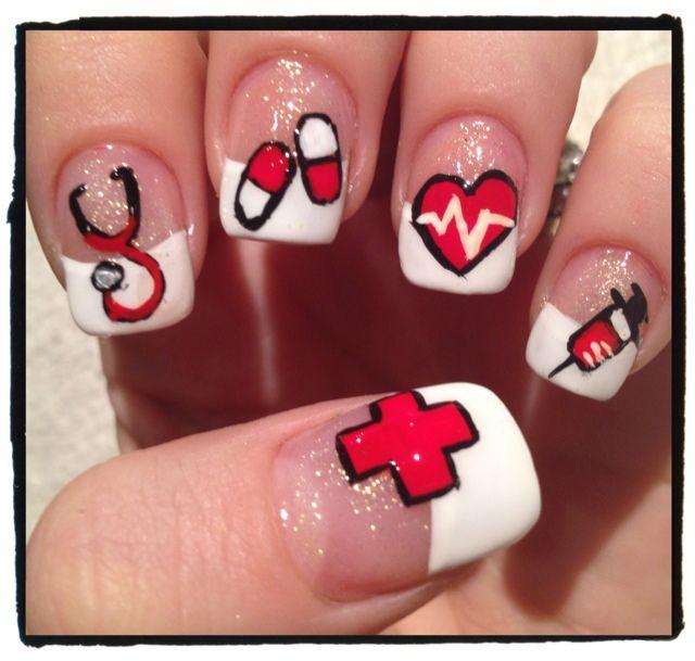 34 best Nurse Nail Design Medical Nail Art images on Pinterest ...