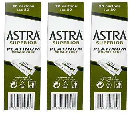 100 Astra Superior Premium Platinum Double Edge Safety Razor Blades 3-Count Pack. For product & price info go to:  https://beautyworld.today/products/100-astra-superior-premium-platinum-double-edge-safety-razor-blades-3-count-pack/