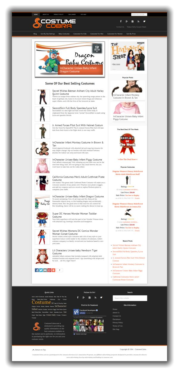 CostumeCobra website