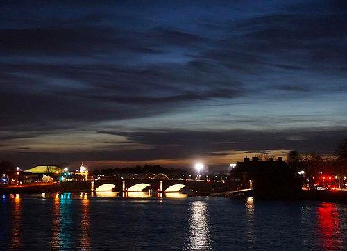 Sunset over the #CharlesRiver #CambridgeMA