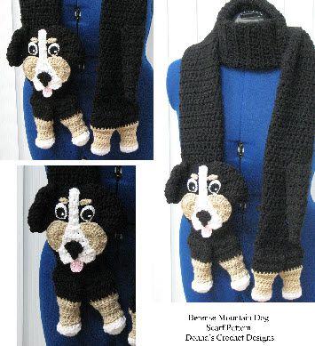 Berense Mountain Dog Scarf Crochet Pattern
