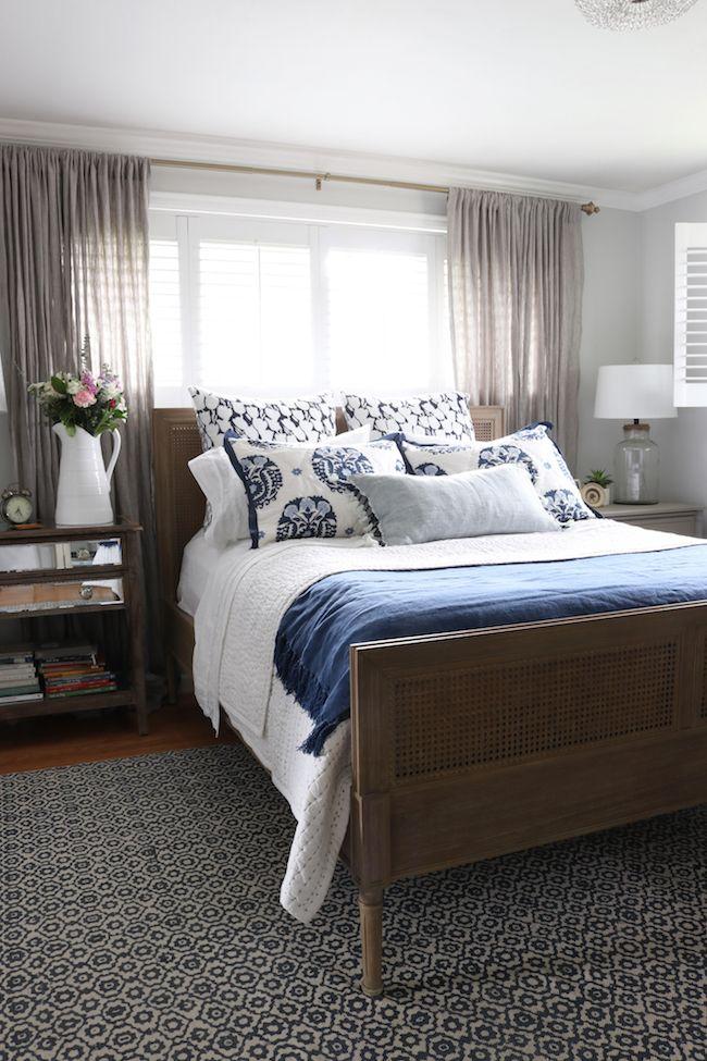 master bedroom makeover  neues bett teppich  bettwäsche