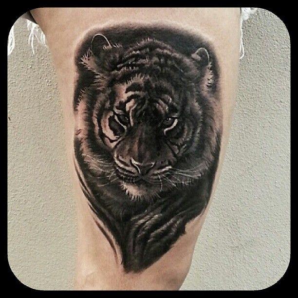 Black And Grey Realistic Tiger Tattoo By Merrick Ames Instagram Choc666 Www Facebook Com Wa Ink Tattoo Shop Disenos Para Tatuajes Disenos De Unas Tatuajes
