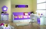 Dormitorio infantil blanco lila