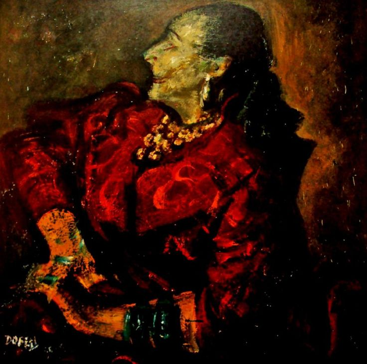 Study of Helena Rubinstein. William Dobell (1899-1970) Australia