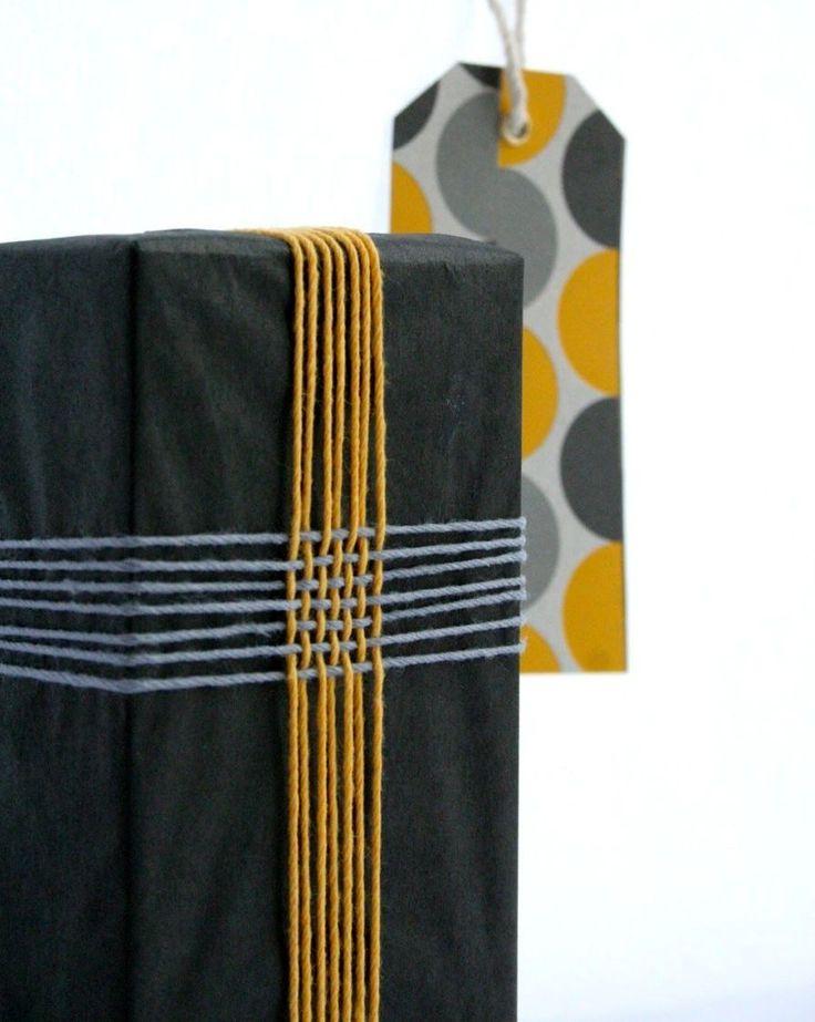 идеи упаковки подарков с использованием пряжи и ниток мулине