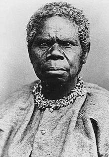 Truganini, a Tasmanian Aboriginal who survived the outbreak of disease and conflicts which followed the British colonisation of Van Diemen's Land (Australia)
