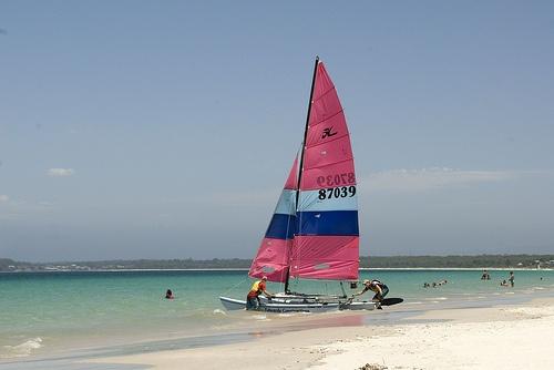 Setting sail at Callala Beach